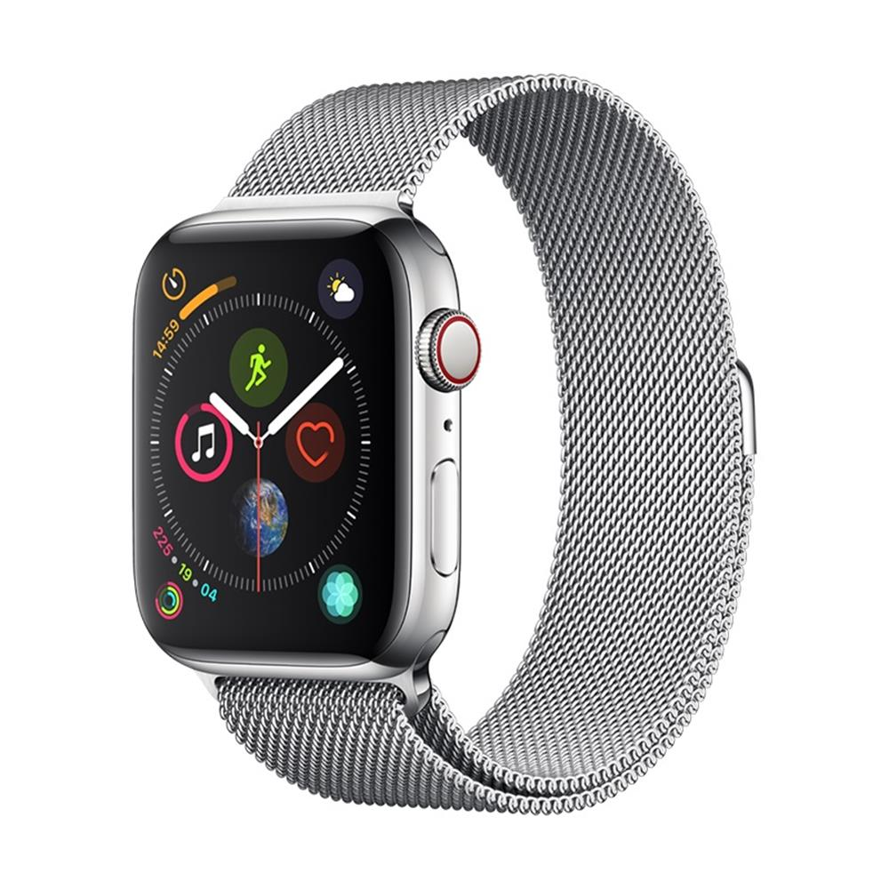 WATCH BAND DEVIA ELEGANT SERIES MILANESE LOOP  FOR APPLE WATCH 4(44mm)silver