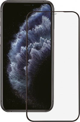 FULL FACE IPHONE 12 PRO 6.1' black tempered glass OEM.